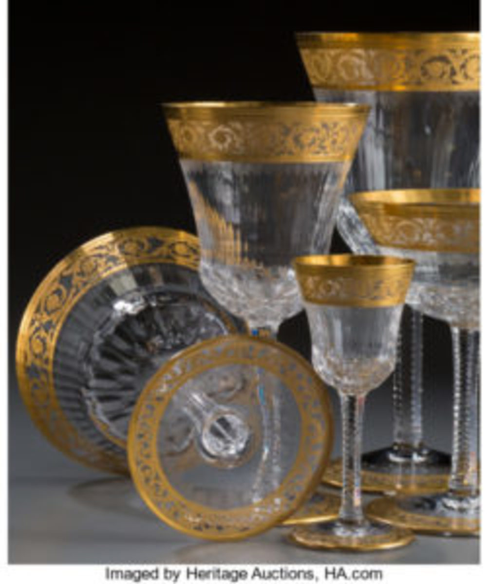 Thistle pattern glass stemware
