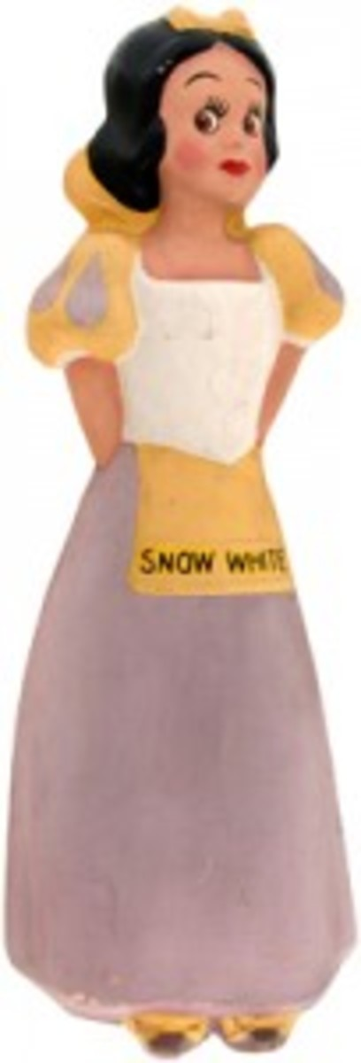 Figure of Snow White from the set of large Old King Cole store displays of Snow White and the Seven Dwarfs, which sold for $18,075.