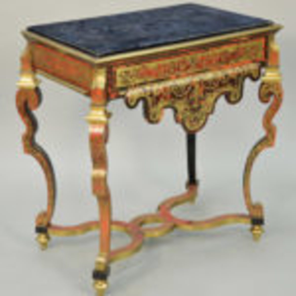 Boulle marble top writing table, $27,450