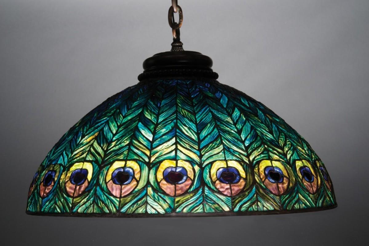 Tiffany Peacock Chandelier