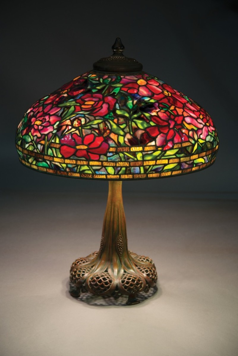 Tiffany Studios Peony lamp
