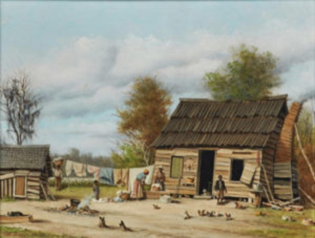 Walker's 'Cabin Scene' painting