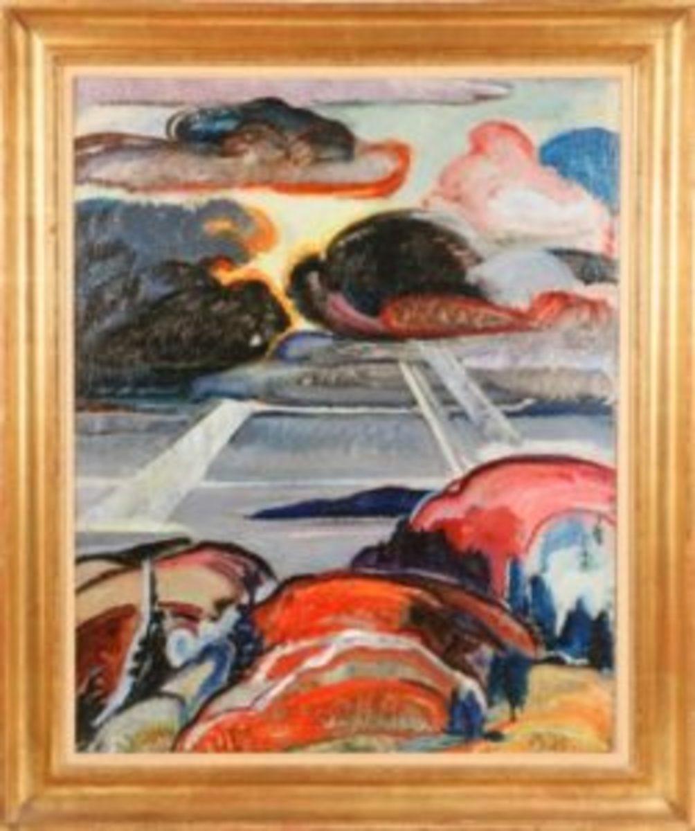 Marsden Hartley oil on canvas painting