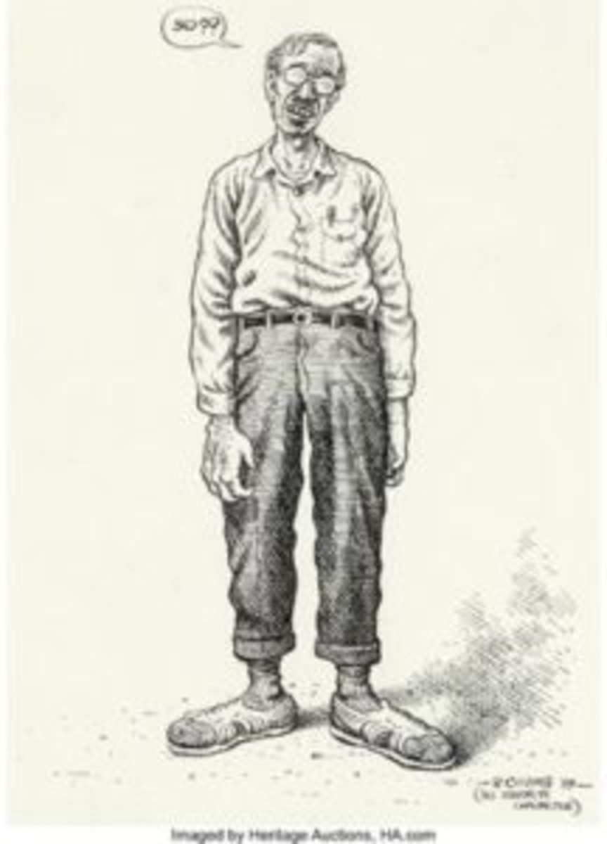 Robert Crumb self-portrait.