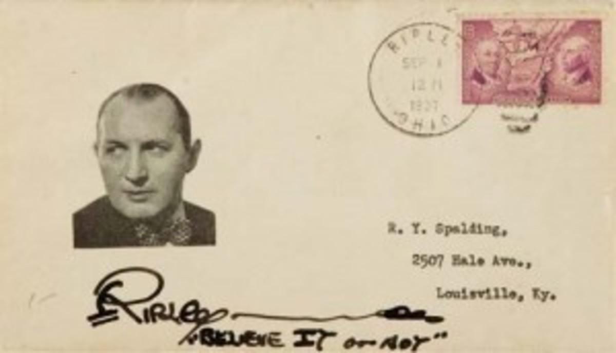 Ripley signed envelope