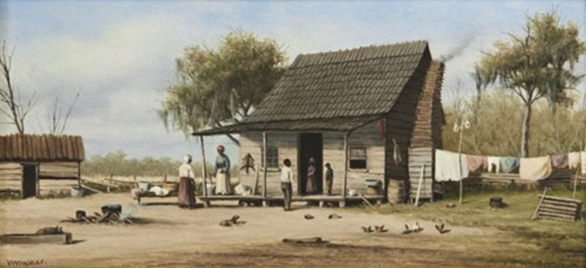 """Walker """"Cabin Scene"""" painting"""