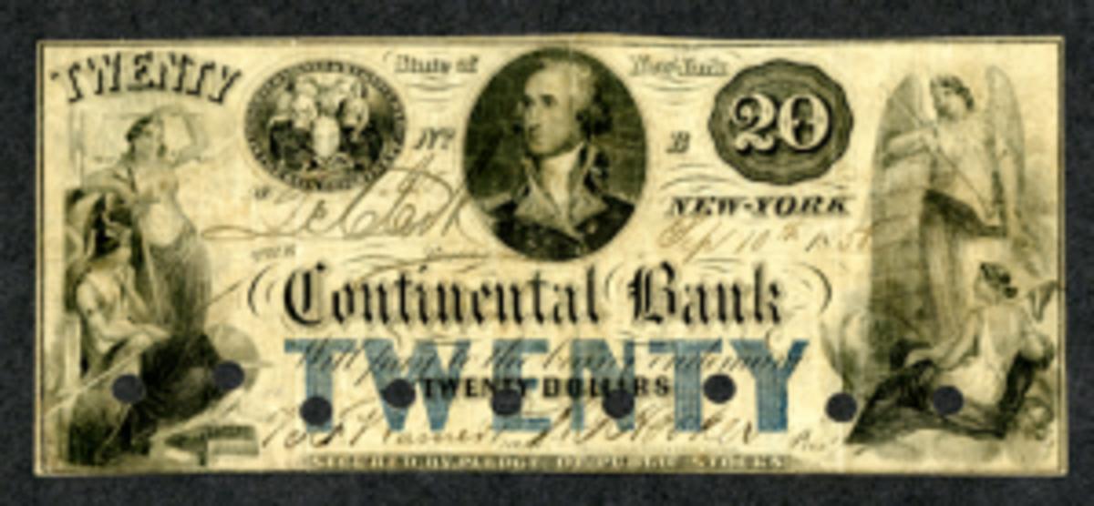 N.Y. $20 note