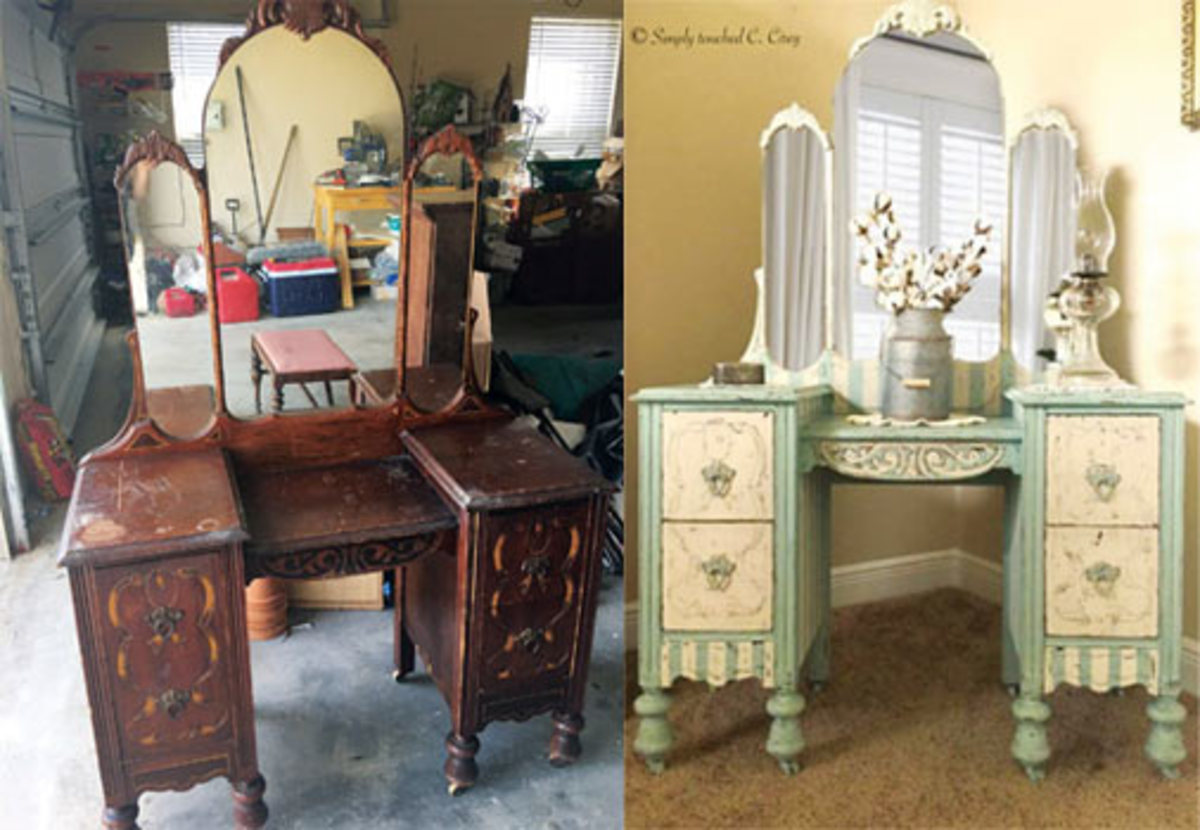 Furniture damaged-transformed with Dixie Belle Paint