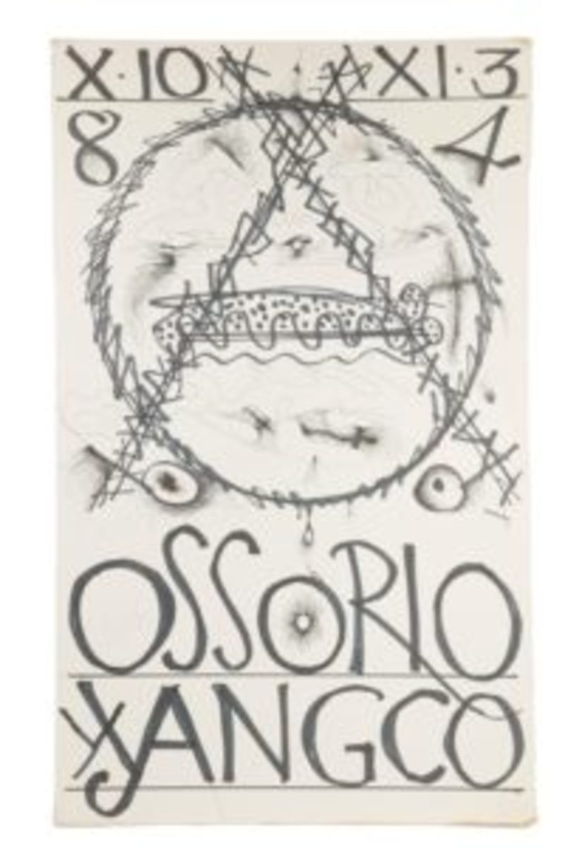 Poster for art exhibition by Ossorio