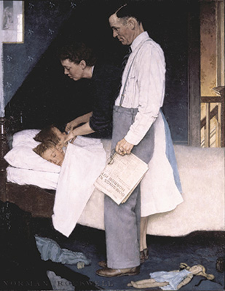 FREEDOM FROM FEAR, by Norman Rockwell, appeared on the cover of the Saturday Evening Post, March 13, 1943. Image courtesy Norman Rockwell Museum.