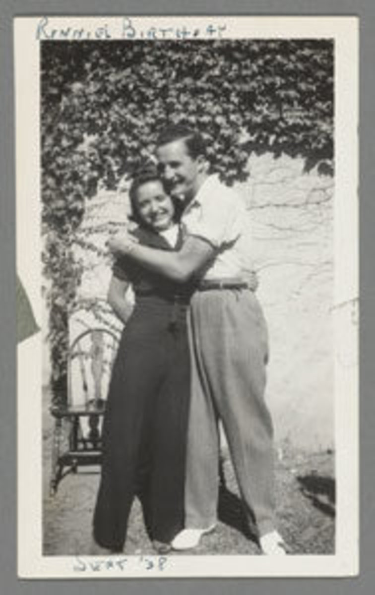 "Ruth and Elliot Handler, here in 1938, met in Denver. Ruth was smitten at first sight, calling her future husband ""gorgeous.""Image courtesy of the Schlesinger Library, Radcliffe Institute, Harvard University."
