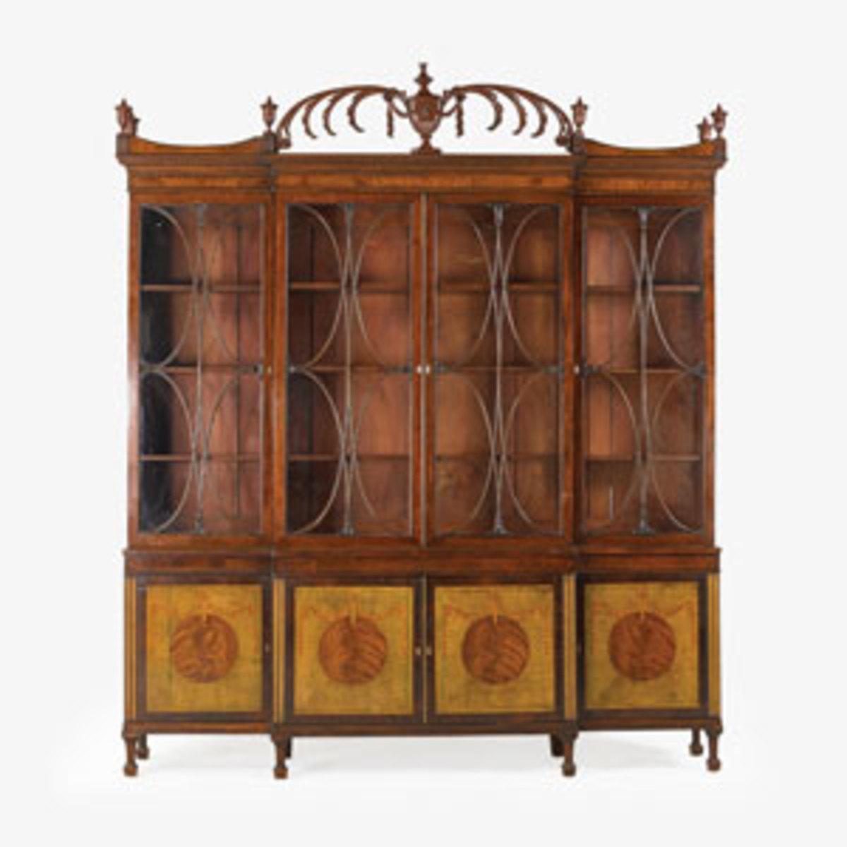 George III fine mahogany bookcase; estimate: $12,000-$18,00
