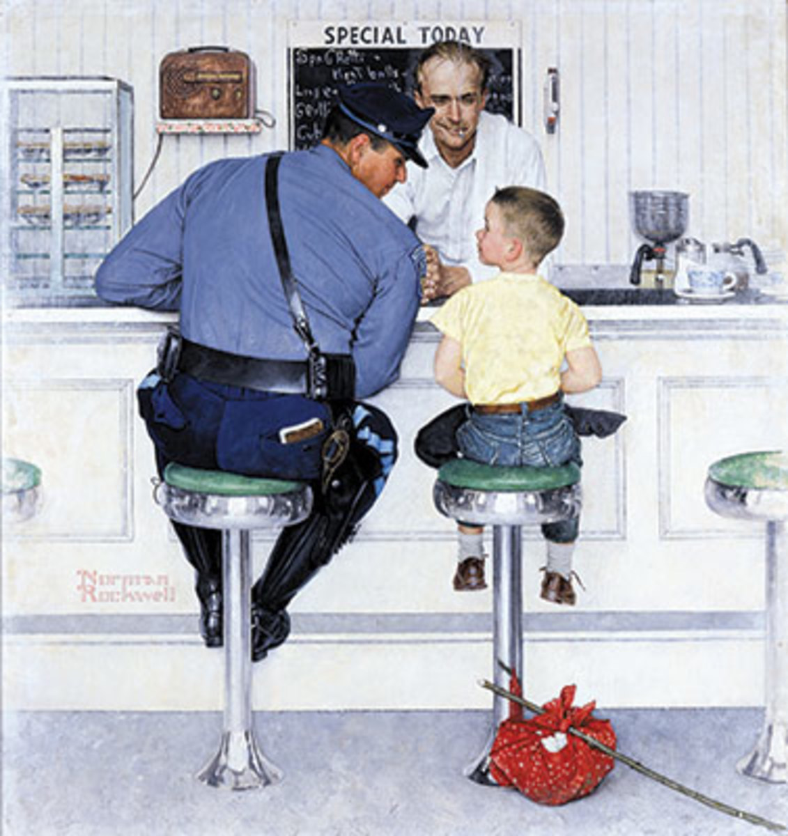 Norman Rockwell's THE RUNAWAY appeared on the cover of The Saturday Evening Post, Sept. 20, 1958. Image courtesy Norman Rockwell Museum Collection