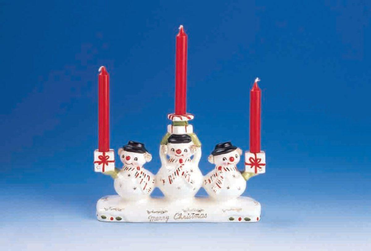 Snowmen candleholders (Dworkin collection)