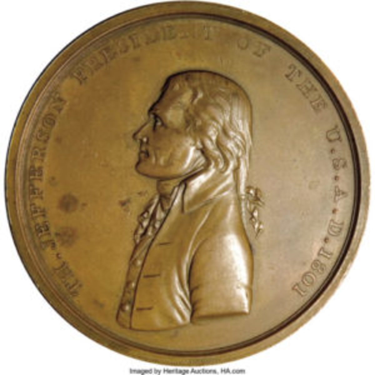 Jefferson Pre-1866 Indian Peace Medal, $862.