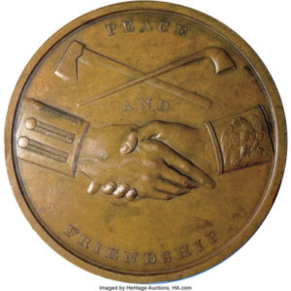 Reverse of the Jefferson medal.