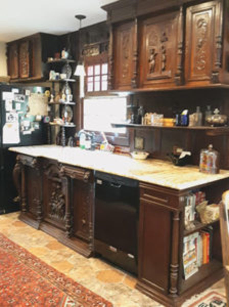 Gina L. Owens' kitchen, above and at right, that she designed herself.