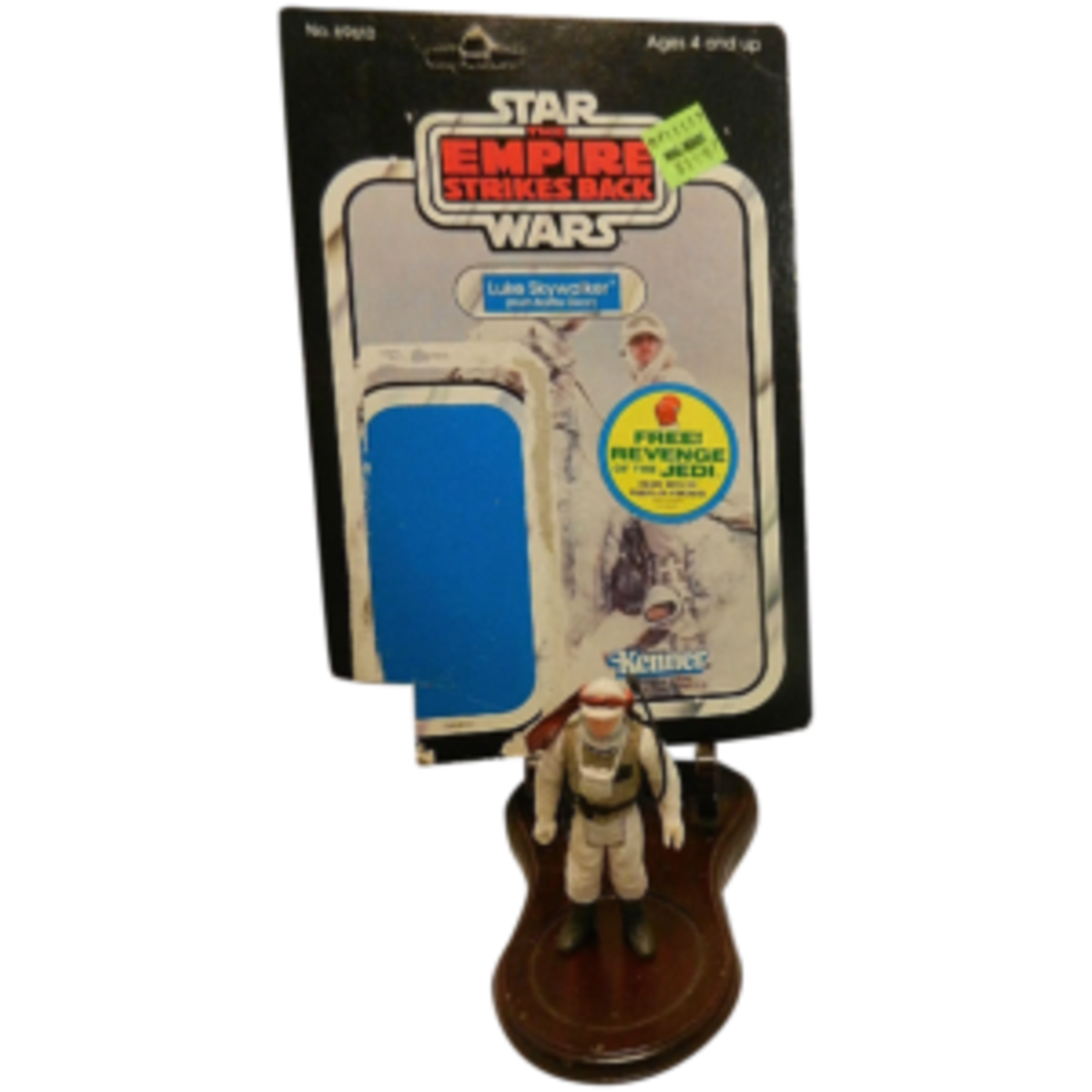 Relive the exciting Hoth battle scene from The Empire Strikes Back with a vintage Kenner Luke Skywalker action figure in Hoth Battle Gear with 48-card backer. This one even still has the original Walmart sticker of $1.97; $20. Courtesy of My Grandmother Had One: rubylane.com/shop/mygrandmotherhadone
