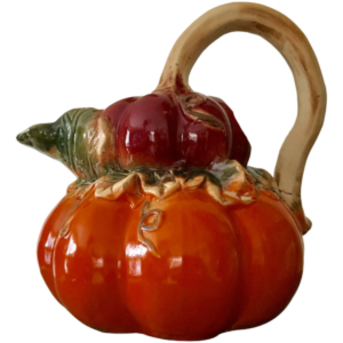 This ceramic pottery pumpkin pitcher makes for lovely decor for Thanksgiving; $95. Courtesy of Vintage Tea Cup: rubylane.com/shop/vintage-tea-cup