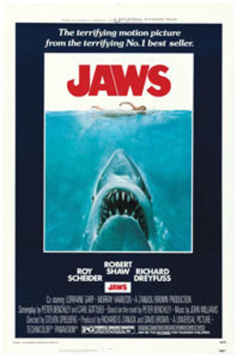 "Jaws (Universal, 1975): One Sheet (27"" x 41""), $286."
