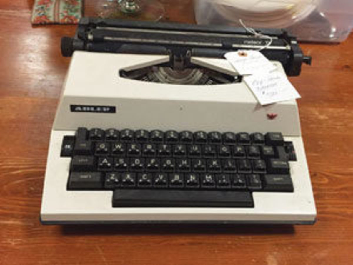 Poet and activist Maya Angelou used an electric Adler typewriter.