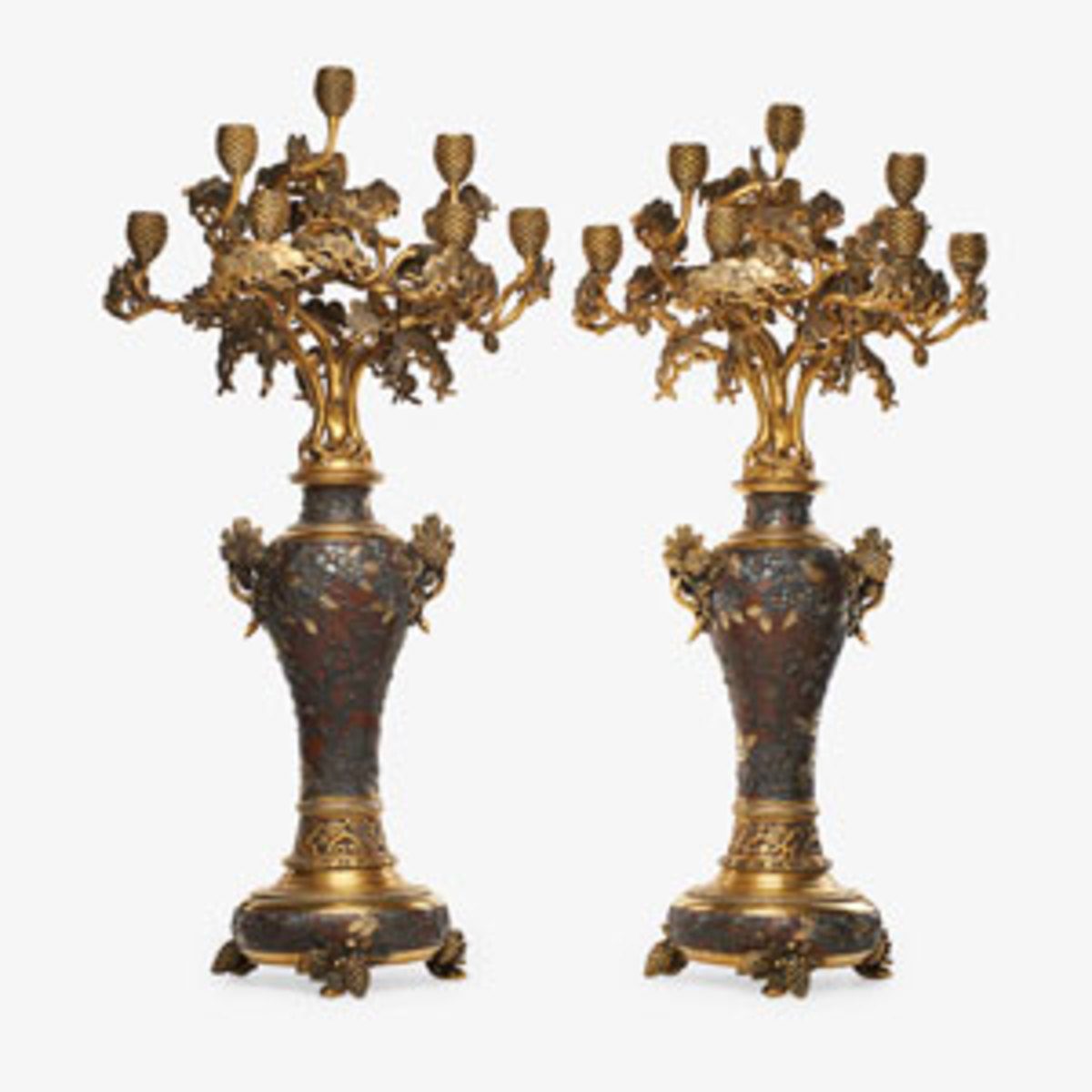 Christofle, pair of candelabra; estimate: $30,000-$50,000.