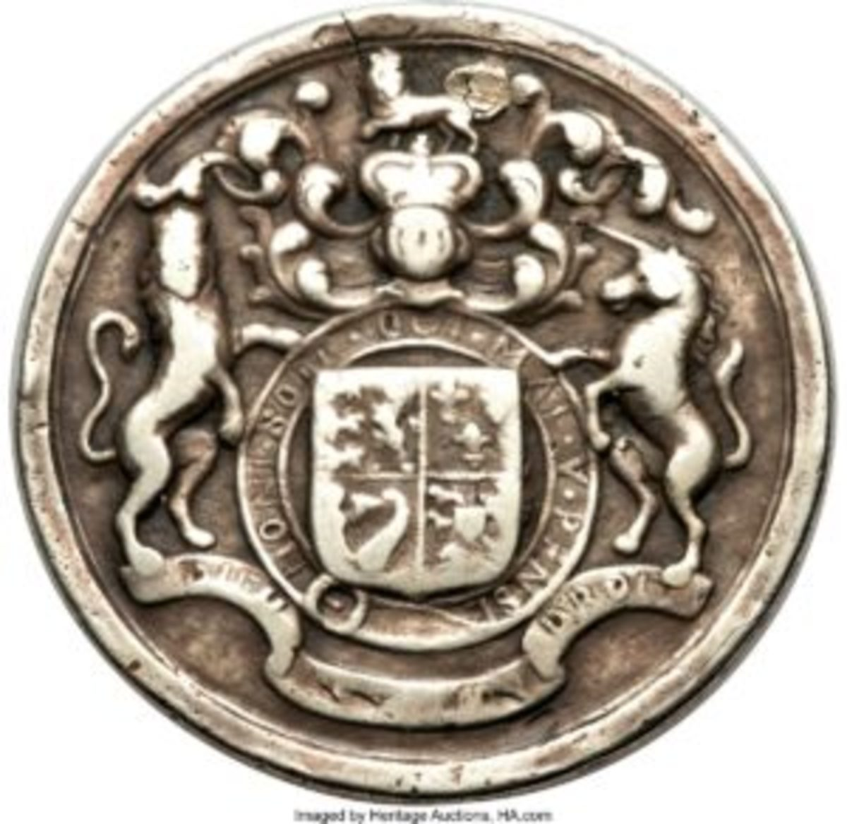 The reverse of the George II medal.