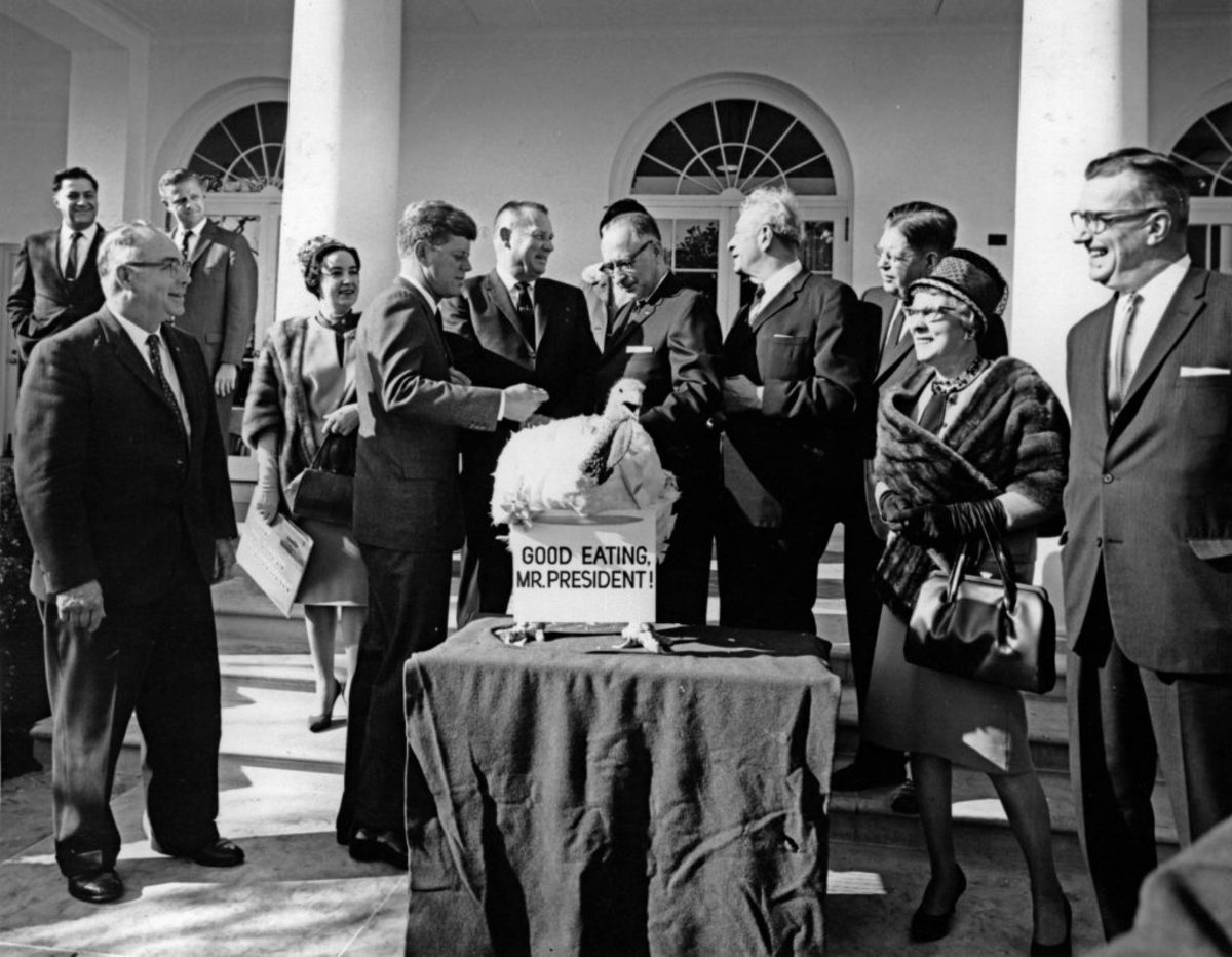 "President John F. Kennedy spared the 55-pound turkey presented to him in 1963 and sent it back to the farm, saying, ""We'll let this one grow."""
