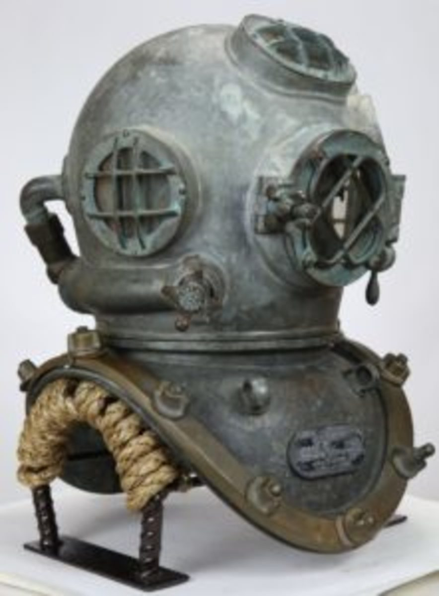A World War II US Navy Mark V helmet made by Miller Dunn sold for $10,637 at auction.