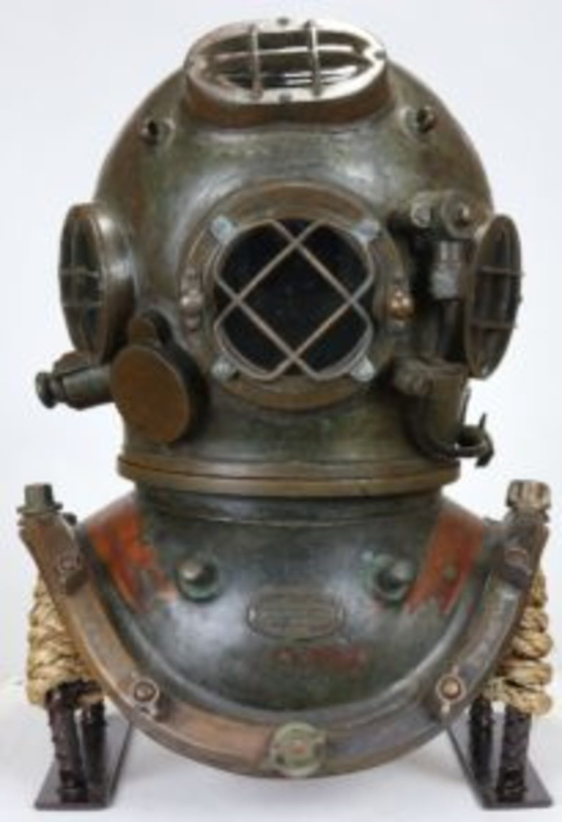 A 1919 A.J. Morse & Son helmet, retaining its original patina, sold for $8,625 at auction.