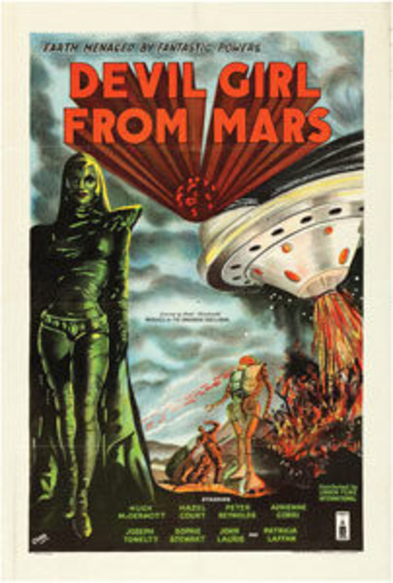 "Devil Girl From Mars (Spartan, 1955): British One Sheet (27"" x 40""), $5,975."