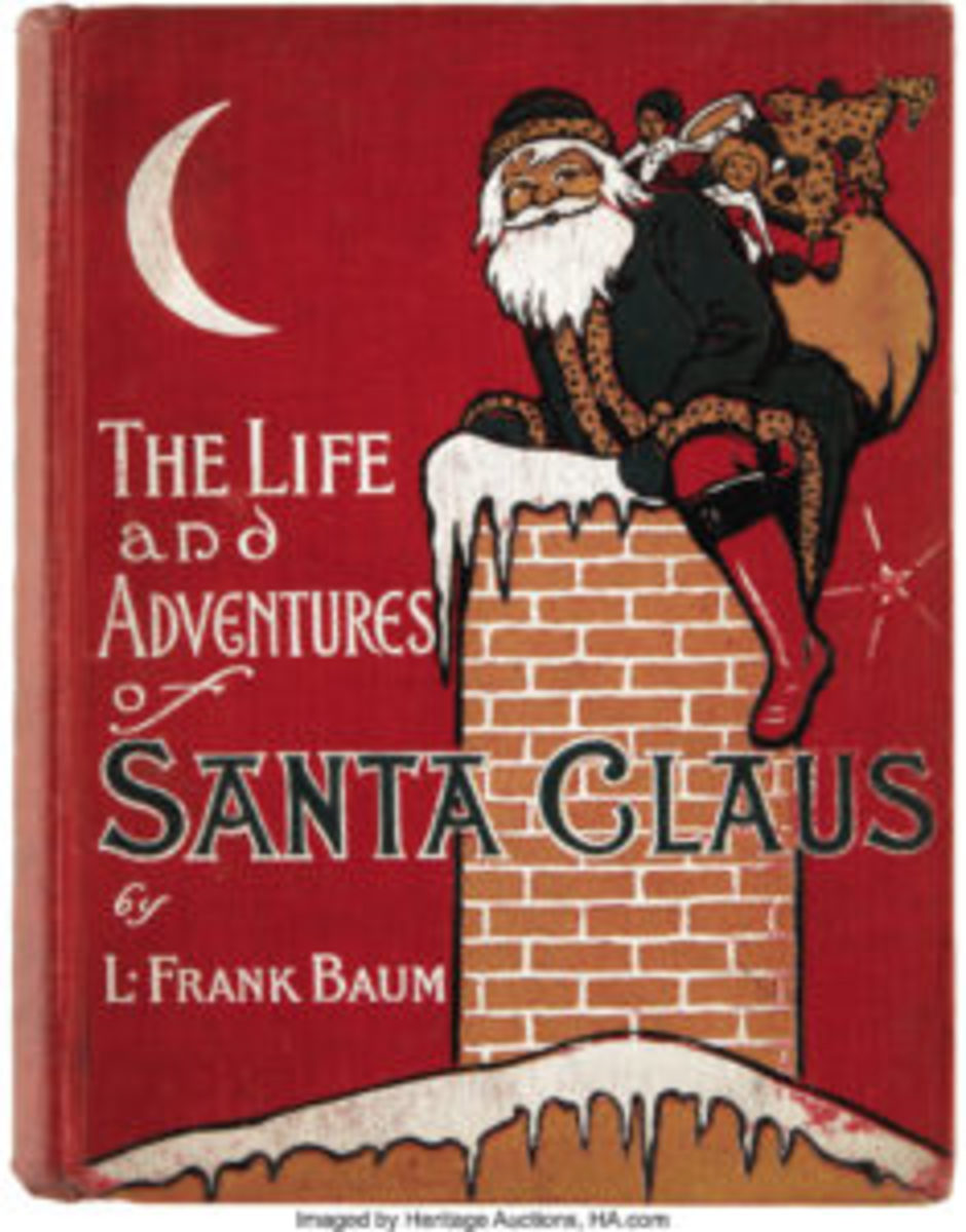 Cover to the first edition of The Life and Adventures of Santa Claus, 1902, by L. Frank Baum. Image courtesy of Heritage Auctions