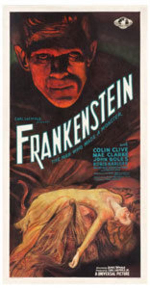 """Frankenstein (Universal, 1931):Insert (14"""" x 36""""), $358,900."""