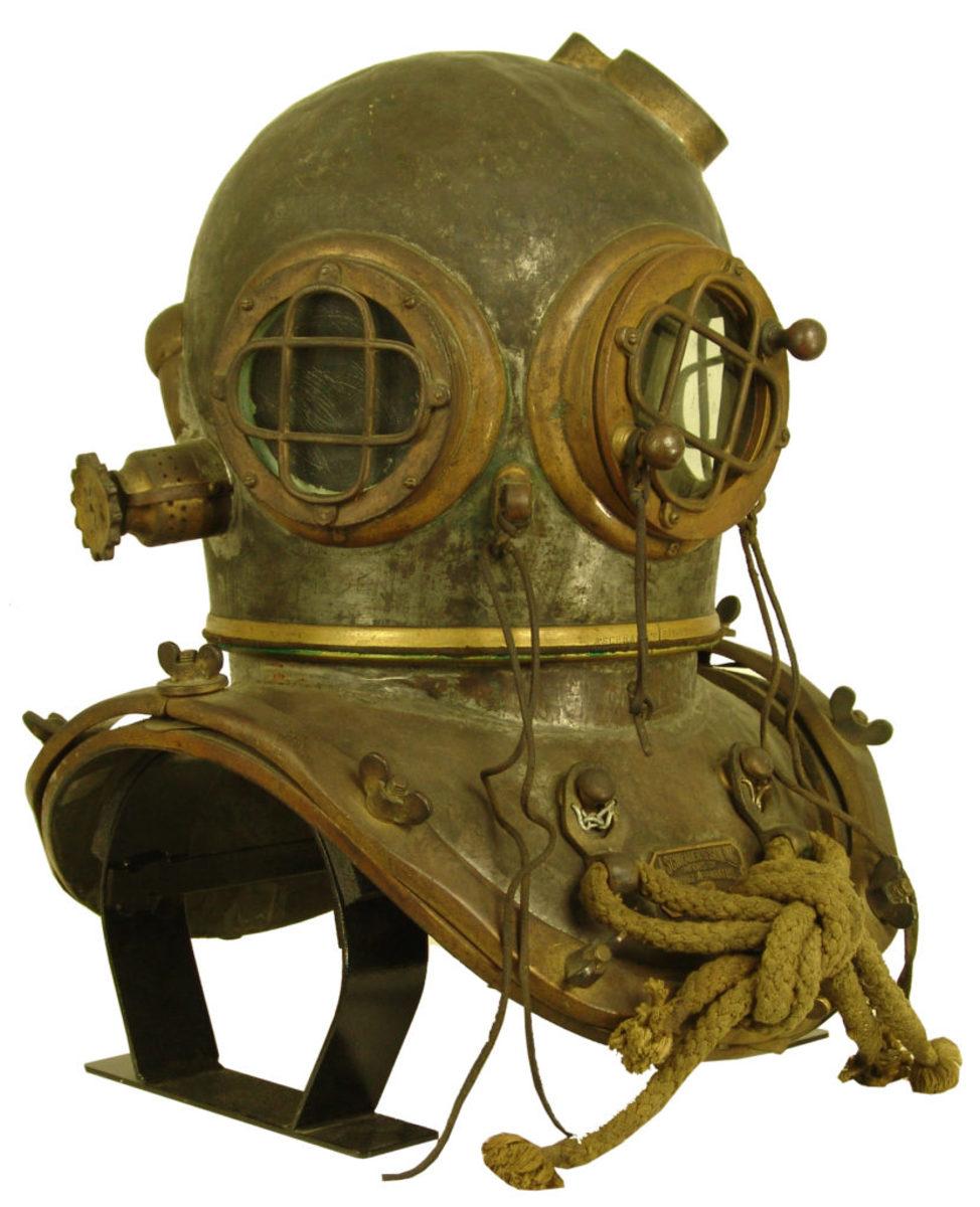 A. Schrader's Son 5 Bolt diving helmet, 1910s.