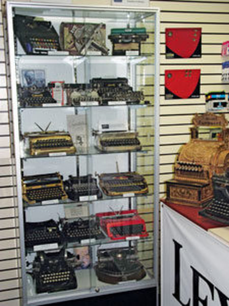 More machines on display at his store