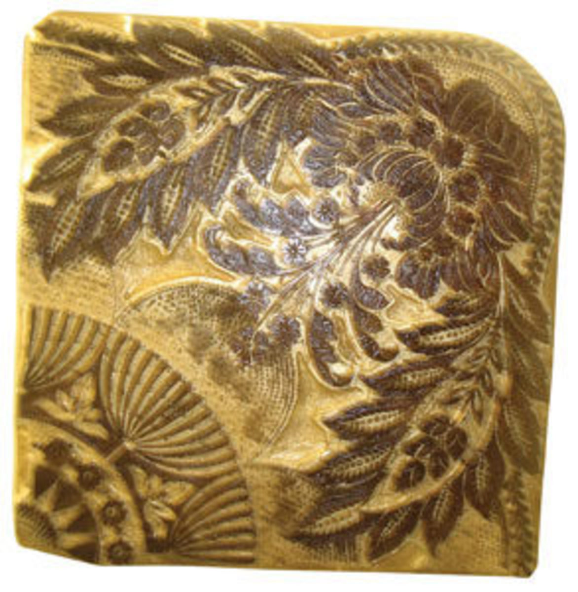 A fantastic hand-carved wood block, this one is busy with multiple patterns working together; $250.