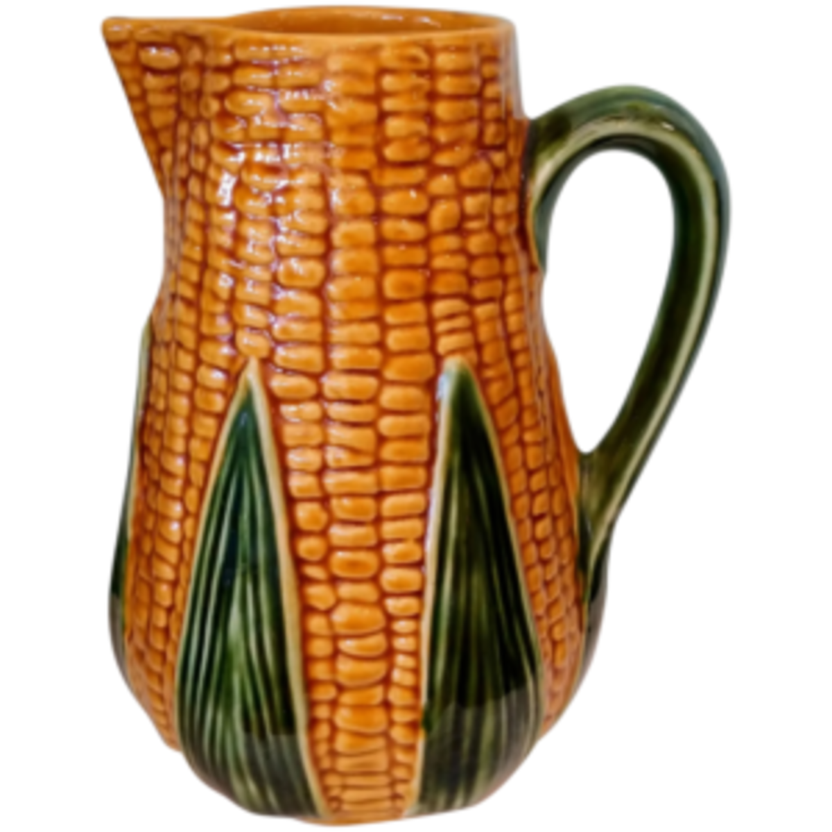 An Olfaire Majolica corn pitcher would add some charm to your holiday table; $65.Courtesy of Toasty Barker Boutique: rubylane.com/shop/toasty-barker-boutique