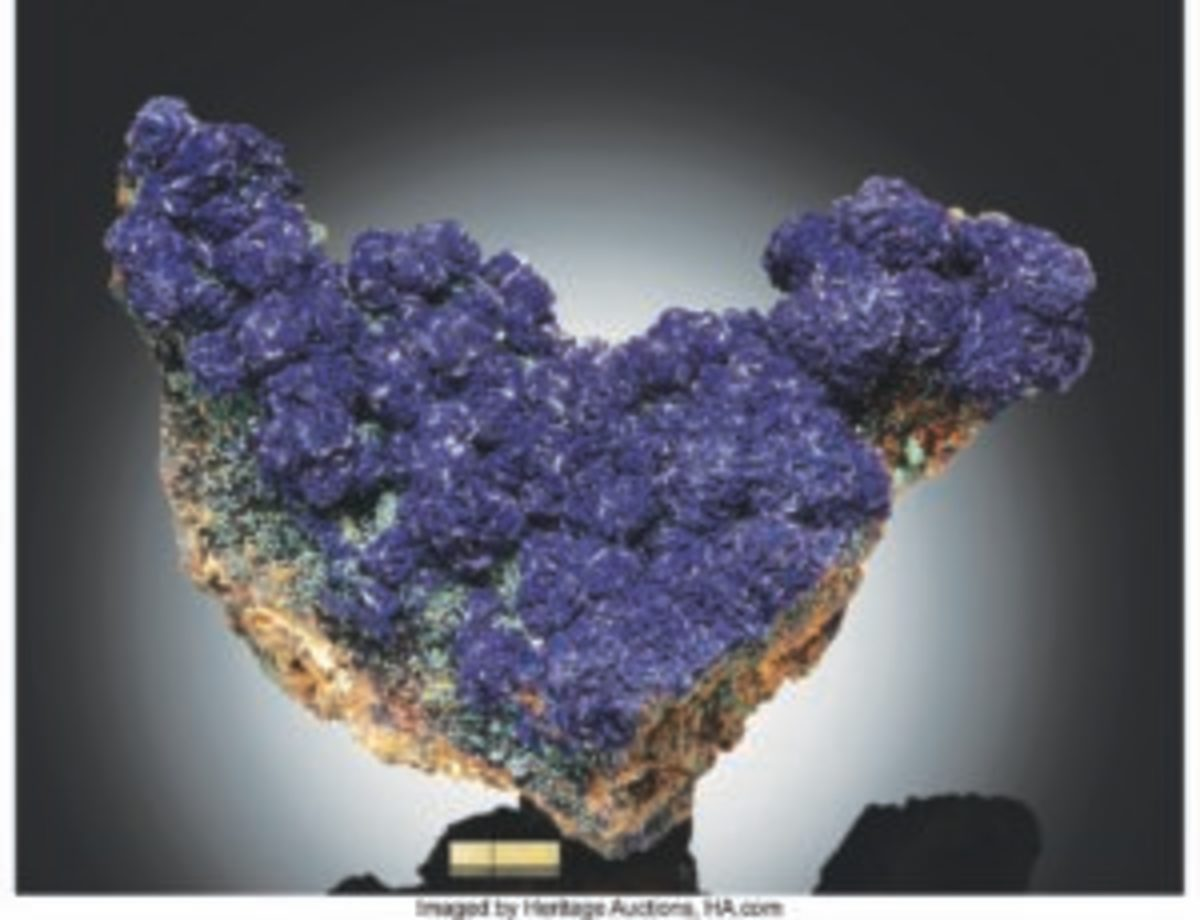 An azurite specimen found in Arizona sold for $60,000.