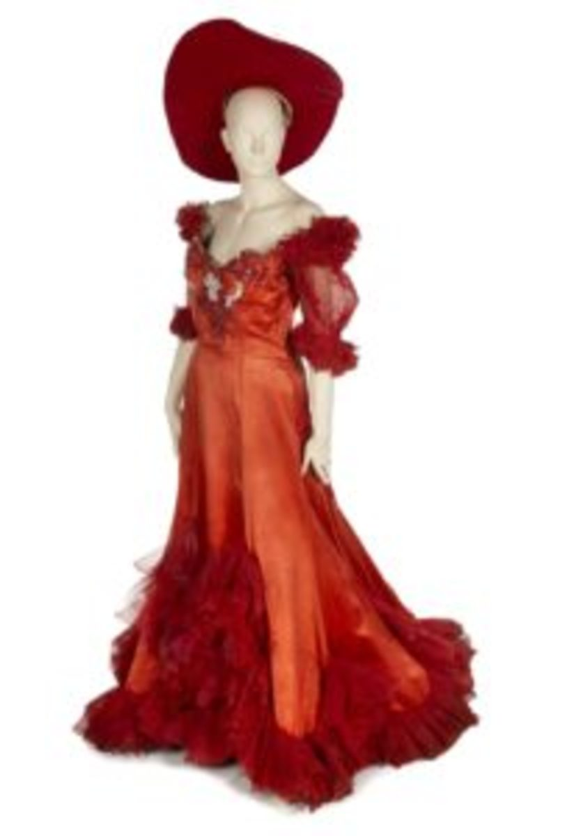 The scarlet costume Mae West wore in Diamond Lil sold for $9,000.
