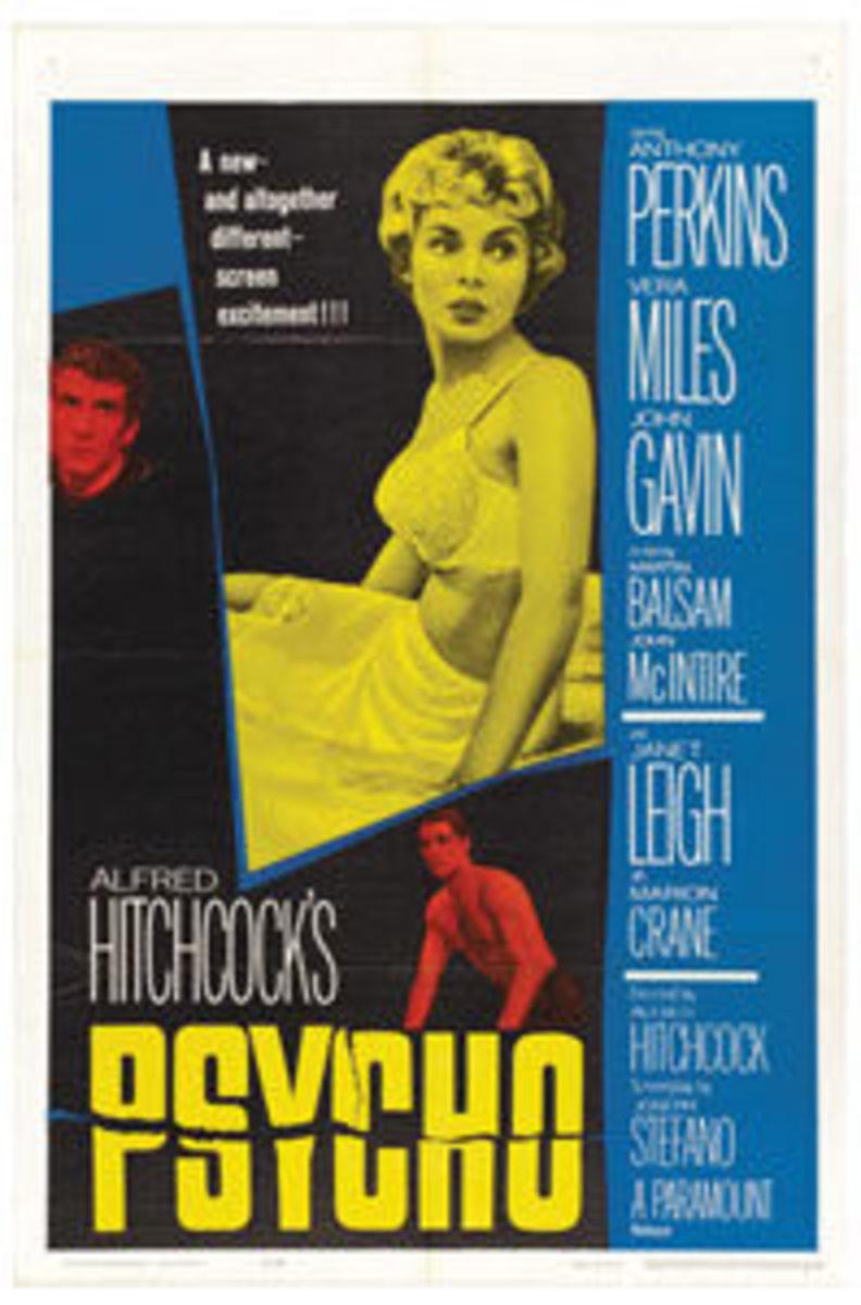 "Psycho (Paramount, 1960): Poster (27"" x 41""), $2,270."