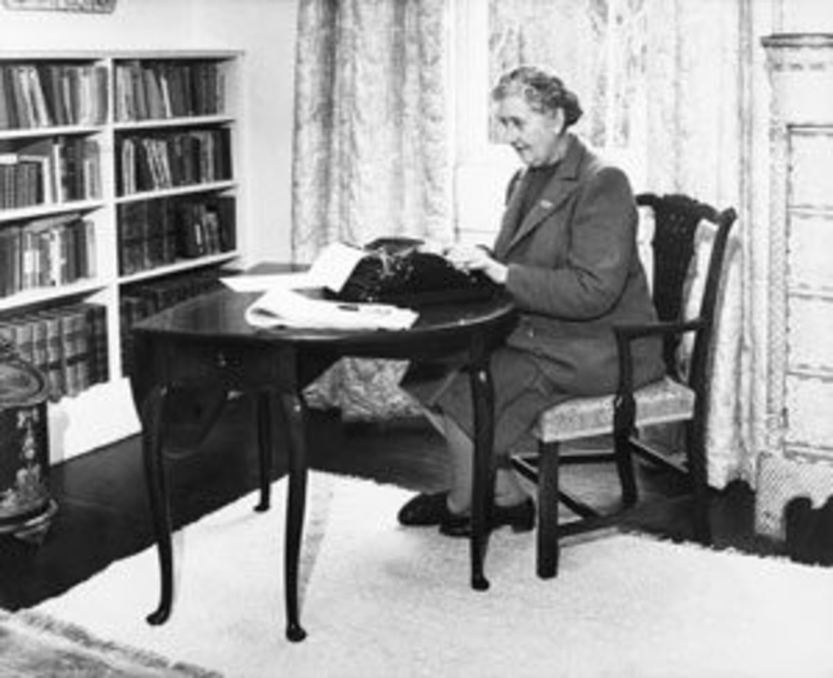 It's no mystery, Agatha Christie loved her Remington typewriter. Image courtesy of Getty Images