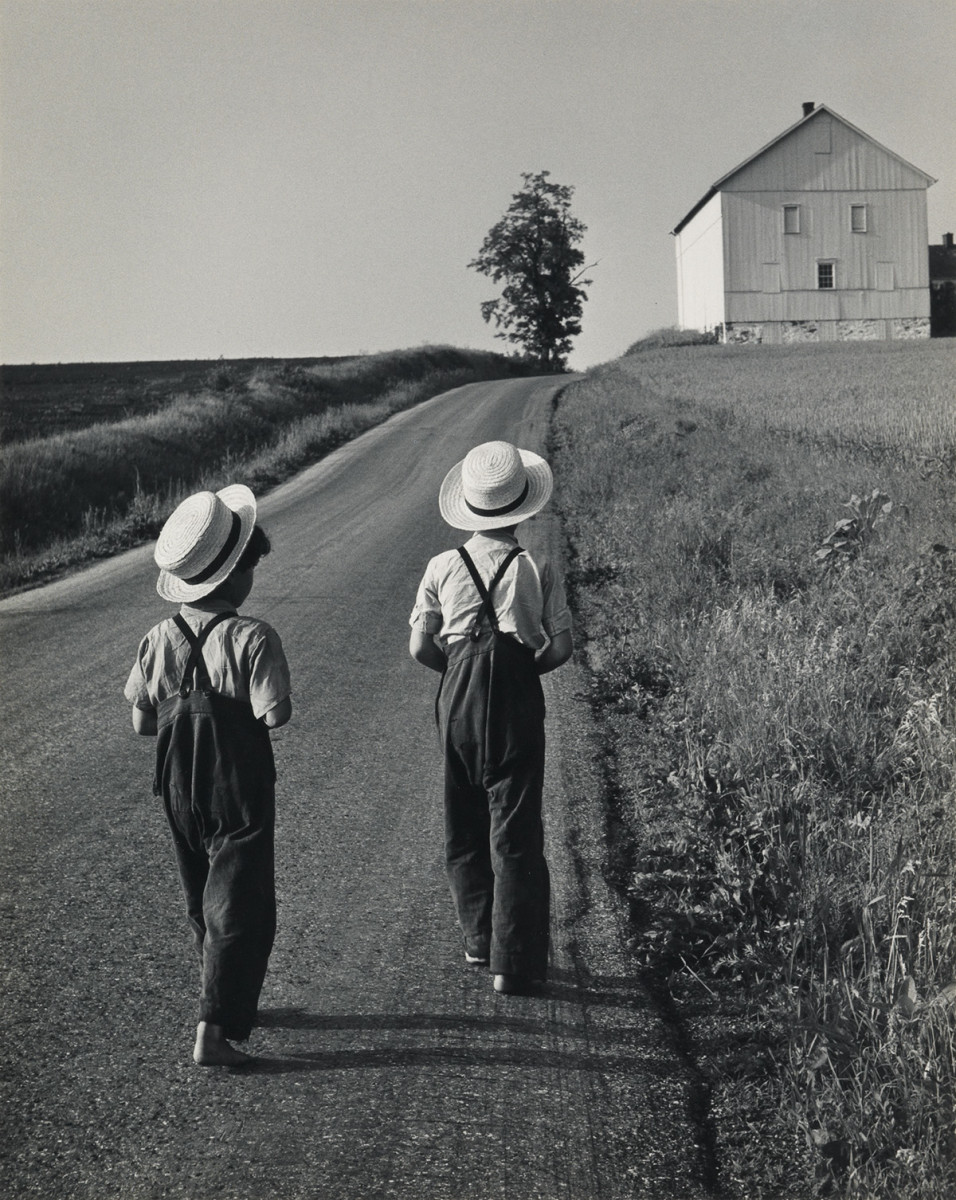 "The photograph ""Two Amish Boys, Lancaster, PA"" (1962), by George Tice, sold for $3,250 at auction."