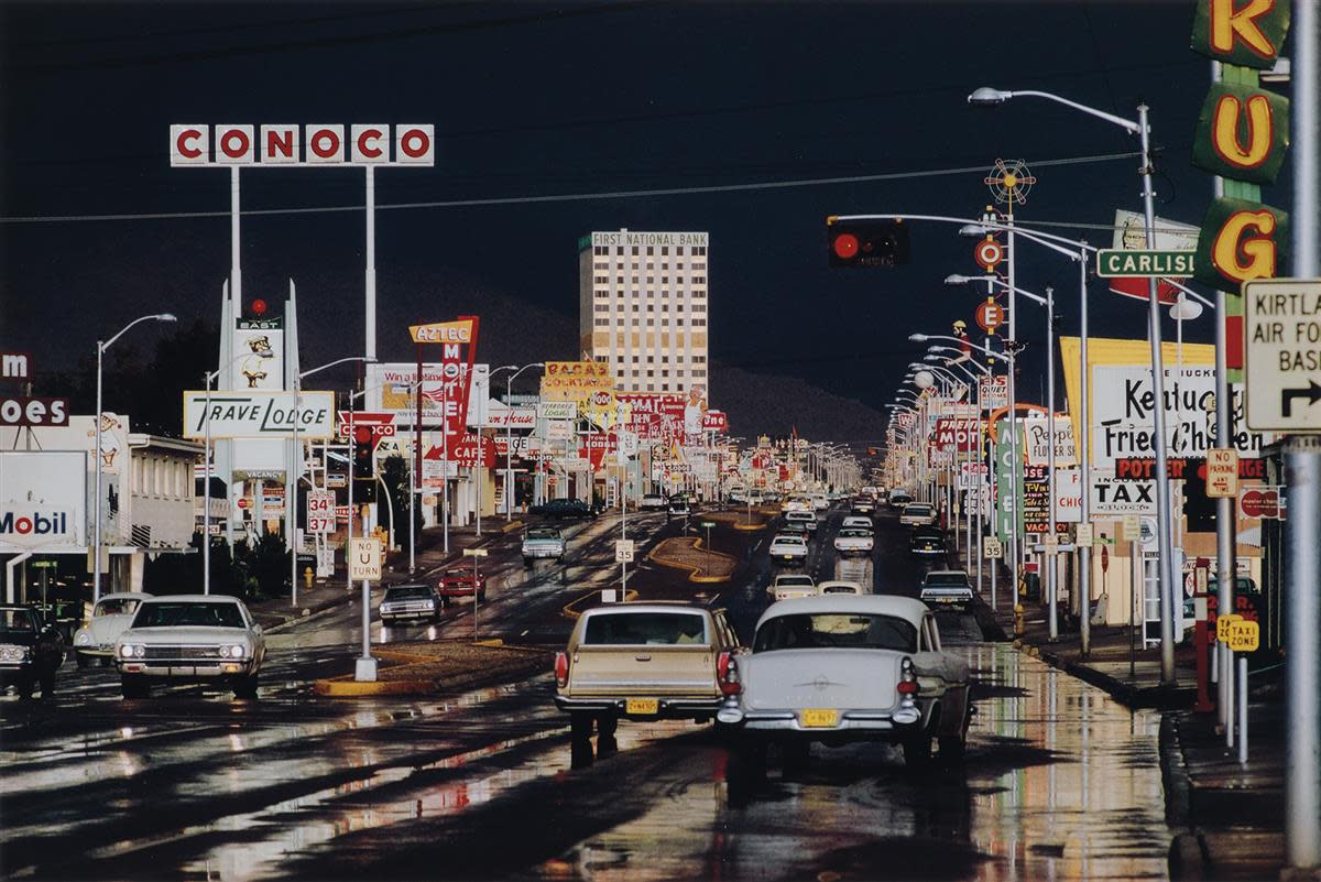 """Route 66, Albuquerque, New Mexico,"" a 1962 photograph by Ernst Haas, sold at auction for $3,250."