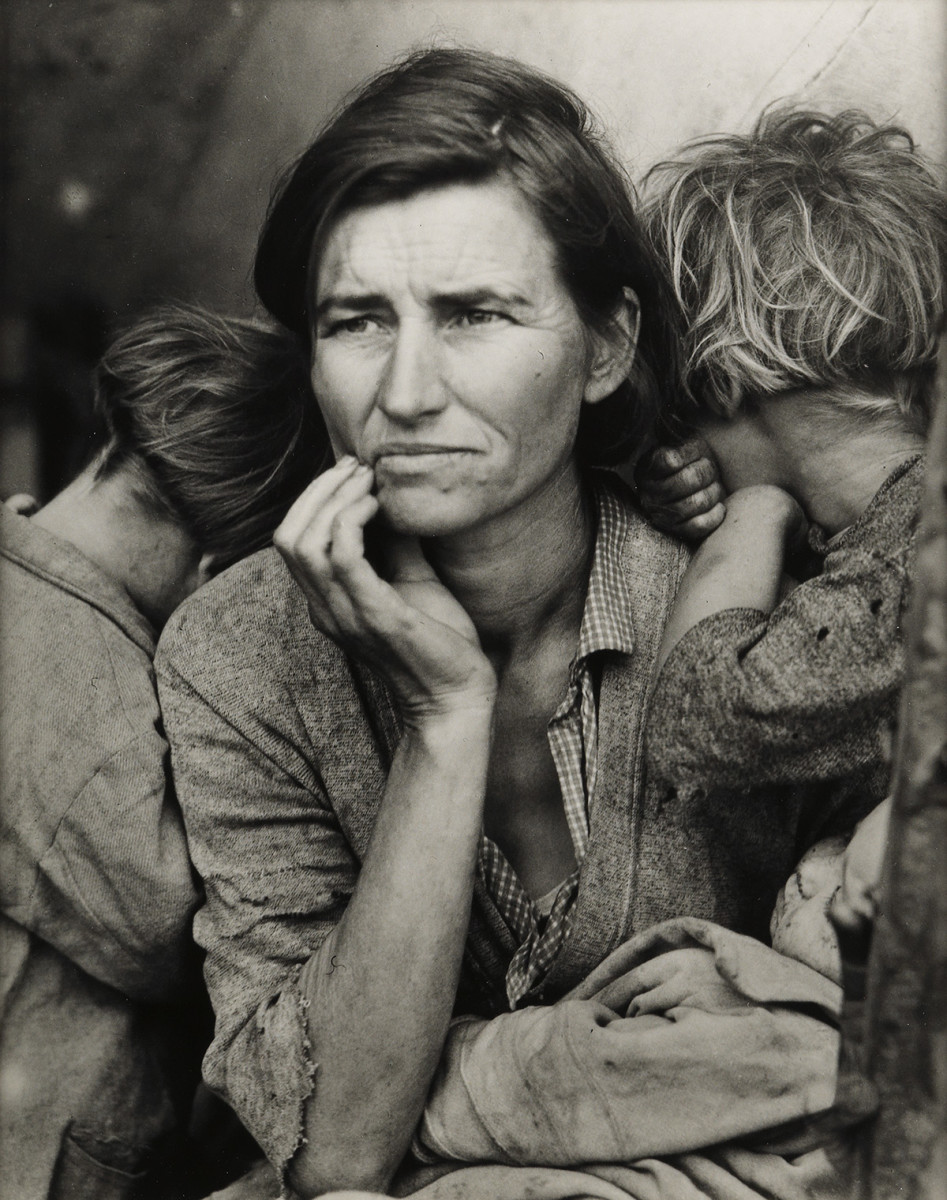 """Migrant Mother,"" a 1936 photograph by Dorothea Lange, sold at auction for $7,000."