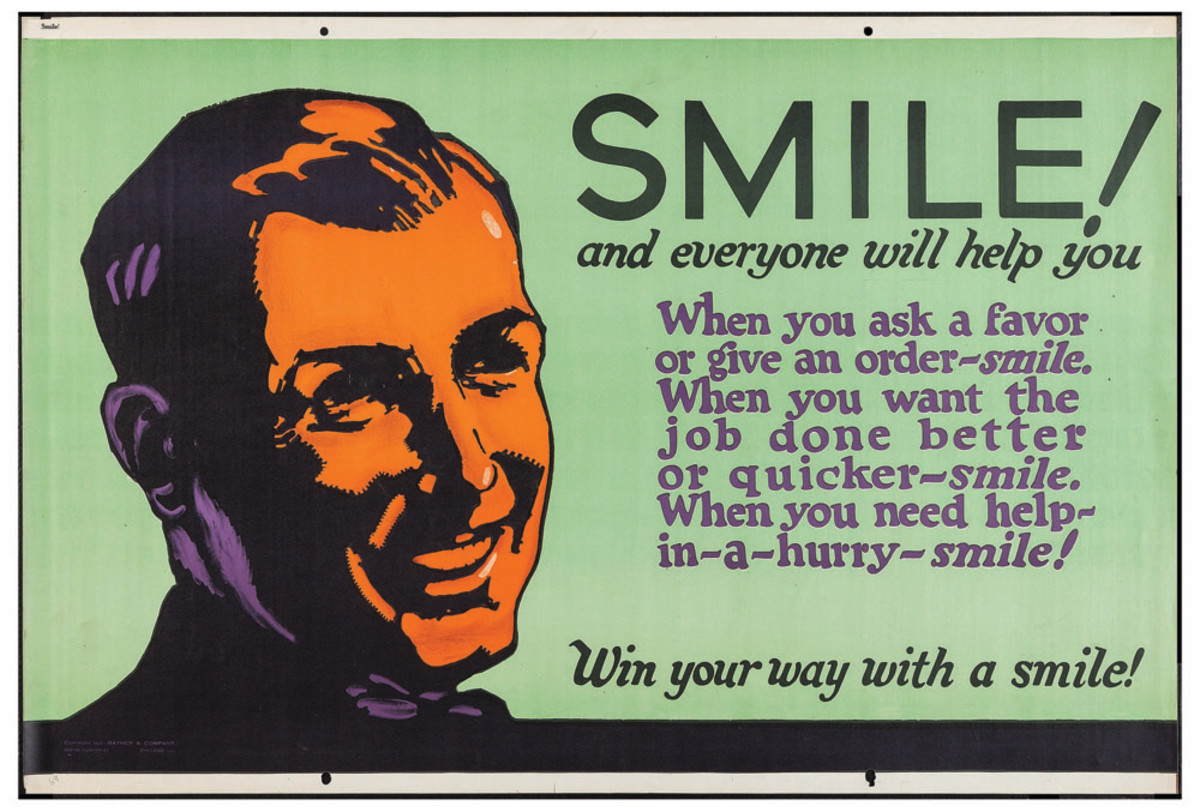 "A positive attitude can help you win in life. Mather & Company, 28"" x 41-1/2"", $860."