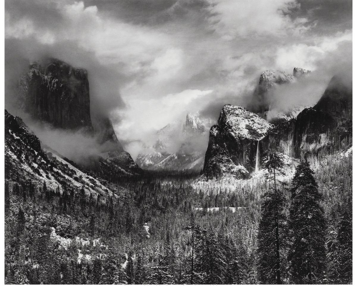 """Clearing Winter Storm, Yosemite National Park,"" 1944."