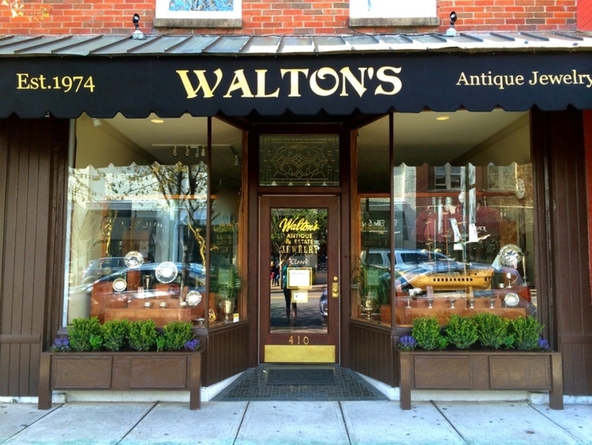 Walton's Antique and Estate Jewelry, a third generation business, is located at 410 Main Street, Franklin, Tenn.