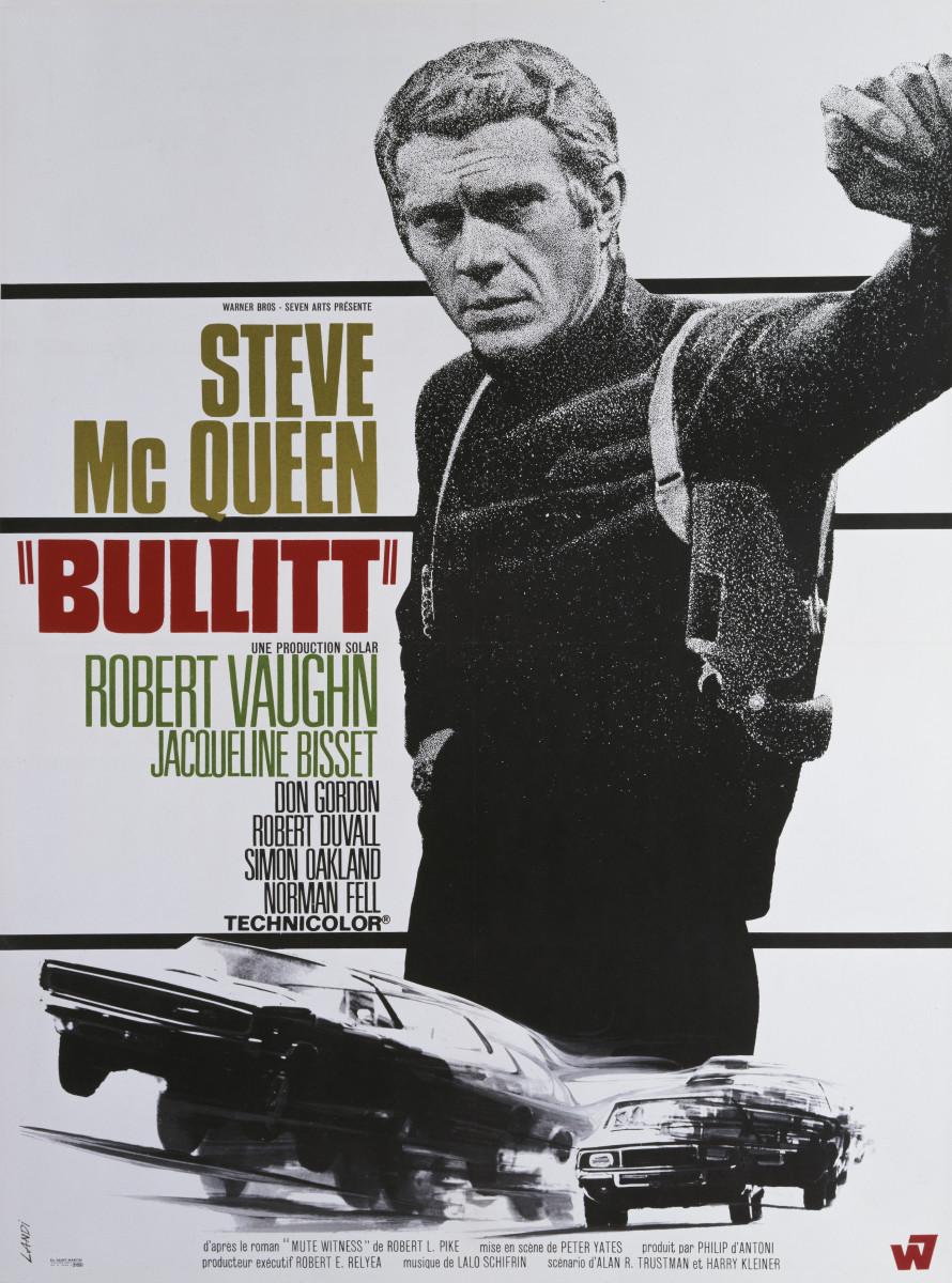 The movie poster for Bullitt.