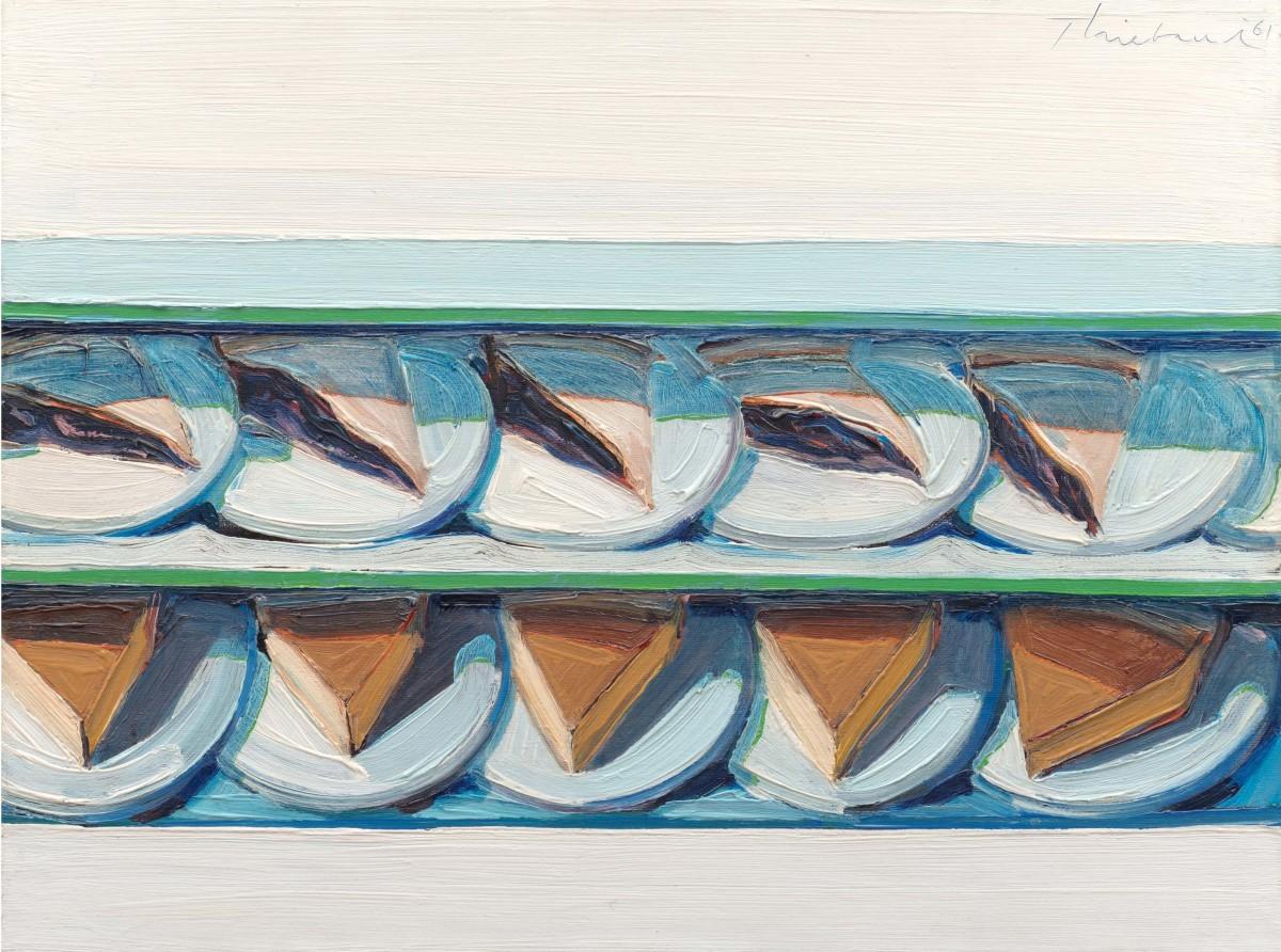 """Blueberry Custard,"" 1961, by Wayne Thiebaud, oil on canvas."