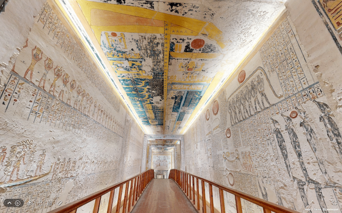 Some of the hieroglyphics in the tomb.